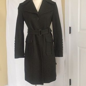 Kenneth Cole Reaction army green wool coat